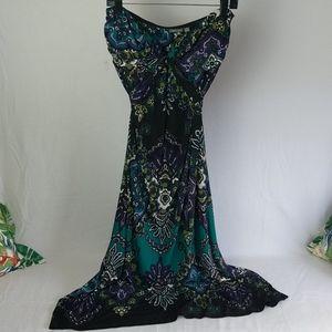Apt 9 extra large floral maxi dress